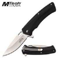 Assisted Opening Knife Satin Stainless Steel Plain Blade