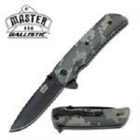 Digital Camo Handle Spring Assisted Knife