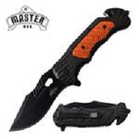 Master USA Tactical ABS Hanlde Spring Assisted Opening Folding Knife Orange