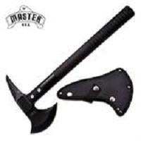 17 Inch Master USA Tactical Tomahawk Throwing Axe Hatchet - Jet Black