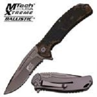 MTech Xtreme Spring Assisted  Knife 4.75 Inches Closed  With Camo G10 Handle