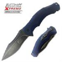 MTech Xtreme Spring Assisted Knife 4.75 Inches With Blue Handle