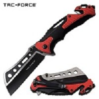 Tac Force Tactical Knives Pocket Knife Spring Assisted Knife Black Red