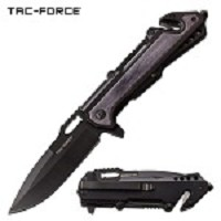 Tactical Pocket Knife 8.25 Inch Spring Assisted Knife Gray Pakkawood