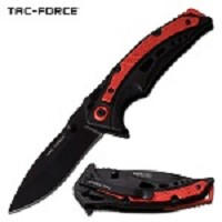 7.75 Inch Length Spring Assisted Opening Pocket Knife Black Red