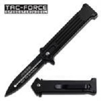 All Black Joker Spring Assisted Opening 'Legal Automatic' Knife