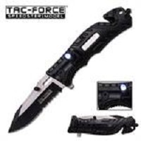 Tac Force 4.5 Inches Spring Assisted Folder With Black Handle