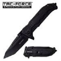 Tac Force 3.75 Inch Blade Spring Assisted Folding Knife Black