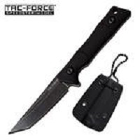 Tac Force Fixed Blade Tactical Neck Knife Black