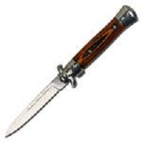 Italian Milano Stiletto Tactical Spring Assisted Open Pocket Knife